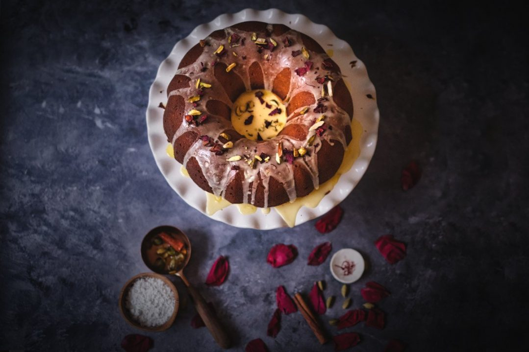 Gulab Jamun Bundt Cake